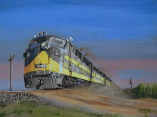 diesel freight train painting Oklahoma Texas