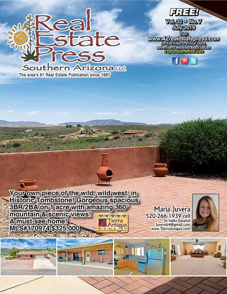 Real Estate Press, Southern Arizona, Vol. 32, No. 7, July 2019