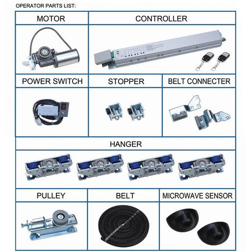 automatic sliding door operator parts list