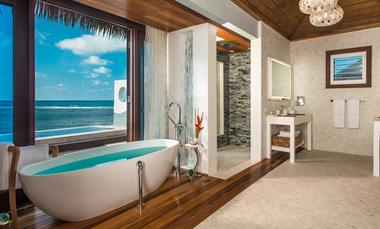 Sandals Royal Caribbean Over Water Bungalow bathroom