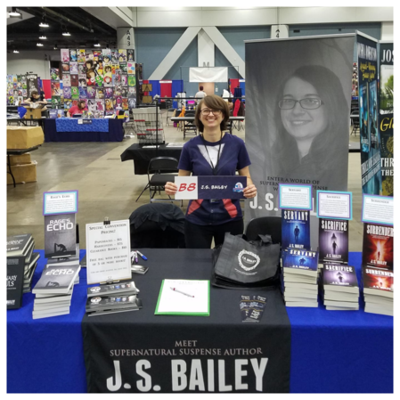 Supernatural suspense author J. S. Bailey W. Franklin Lattimore book signing Half Price Books Columbus Ohio