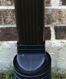 Downspout connect to drain pipe.