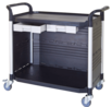 drawer utility carts, lab trolley manufacturer Taiwan, plastic utility carts factory, 2-tier utility carts, 2-tier service cart