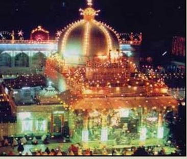 Ajmer Sharif Dargah -Illuminated during a festivity event