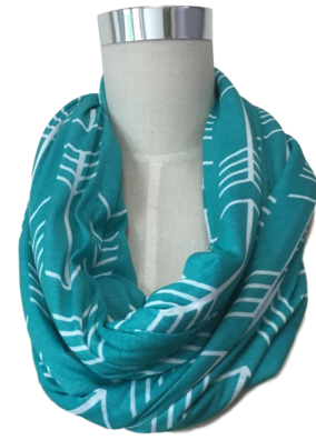Turquoise Arrow Nursing Cover