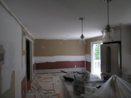 kitchen before painting in Mansfield, MA.