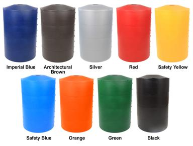 Poletector light pole base cover is available in nine standard colors.
