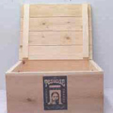Wine crate with drop top