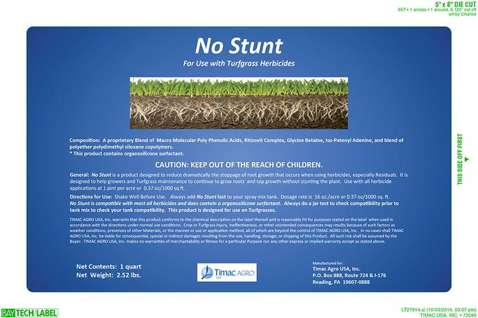 No Stunt Label for Turfgrass