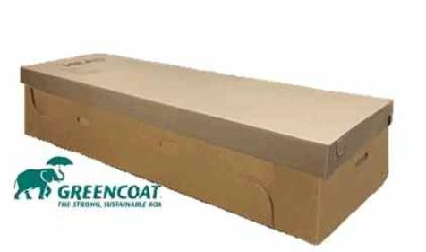 "L6000 ""Greencoat"", cremation container, Covington Box & Packaging"