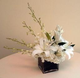 Hydrangea, Dendrobium Orchids, and Lilies