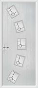 5 Square Arch Composite Door trieste glass