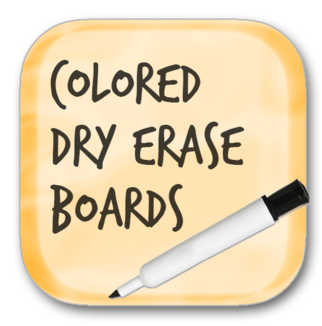 Solar Graphics Colored Dry Erase Boards logo button picture image