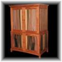 Entertainment armoire made from mahogany and mineral stained poplar