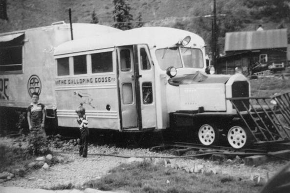 A Galloping Goose at Telluride, Clorado in 1952.