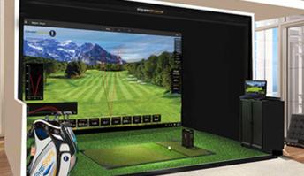 Indoor golf design golf simulator golf simulator for Indoor golf design