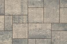 Unilock Concrete Engineered Paver Beacon Hill Smooth Flagstone in Steel Mountian Color