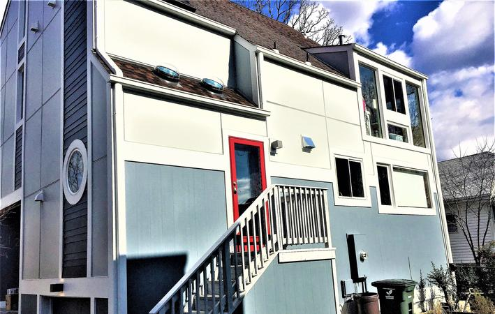 Hardie Siding Contractor Arlington, VA Rear After