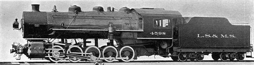 An 0-10-0 Decapod Switching Engine of the Lake Shore and Michigan Southern Railway, circa 1907.