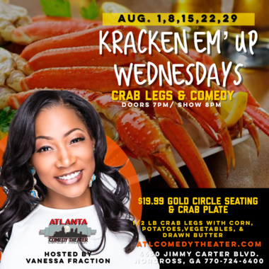 crab legs comedy Atlanta comedy uptown comedy punchline comedy