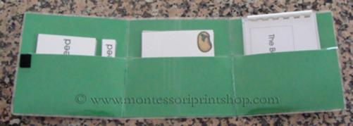learn how to make storage envelopes for your Montessori nomenclature cards and books - Montessori Print shop