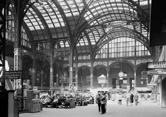 Pennsylvania Station (New York City), Main Concourse interior, 24 of April, 1962,