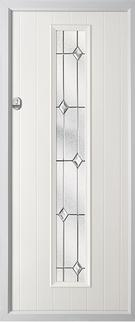 1 strip composite door in white