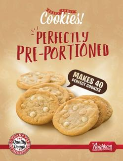 Perfectly Pre-Portioned cookie dough fundraiser
