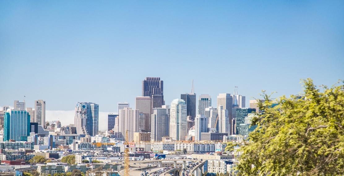 san francisco bay area skyline landscape blue sky