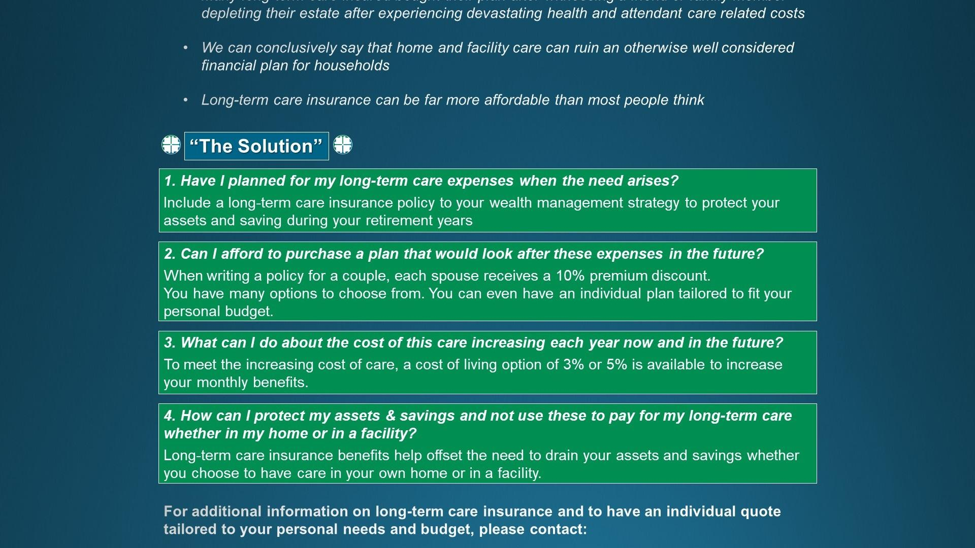 Long Term Care Insurance Quotes Why Long Term Care Insurance