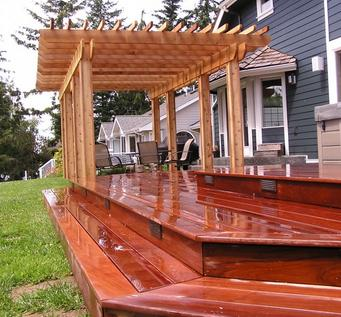 Ipe, also sold under trademark names, such as Iron Wood is a long lasting natural wood deck choice