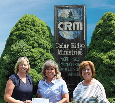 Cedar Ridge Ministries receives check from The Community Foundation of Washington County Maryland for the Washington County Gives 2018 fundraising event