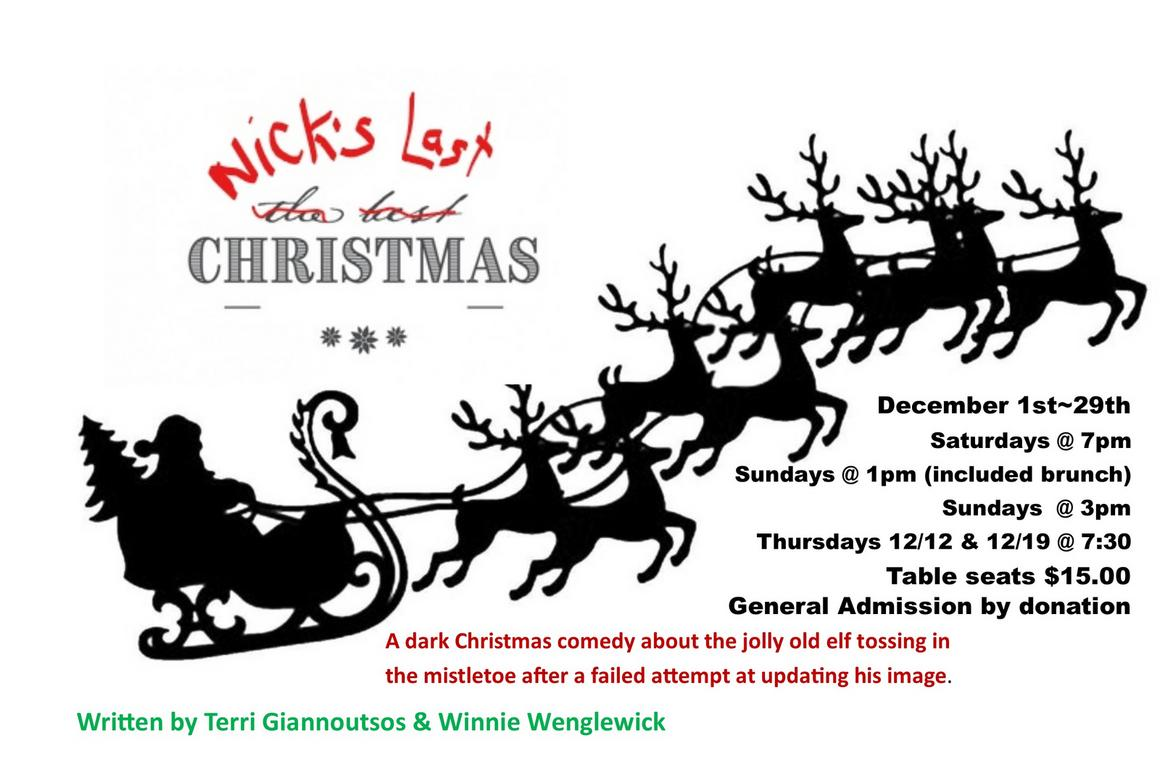 Nick's Last Christmas at Dangerous Theatre ticketing