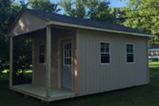 12X20 GABLE GARDEN SHED WITH PORCH
