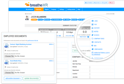 Sickness tracking and management HR solutions