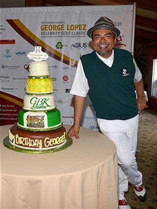 George Lopez Birthday Cake Tier Cake Hansen's Cakes Los Angeles