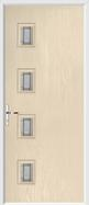 4 Square Door lignum glass