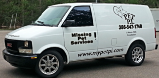 PET PI Missing Pet Service Van