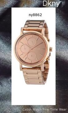 Dkny Soho Rose Gold Tone Chronograph Woman's Watch