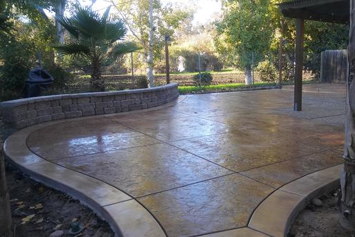 A patio done by paving contractors in San Ramon, CA