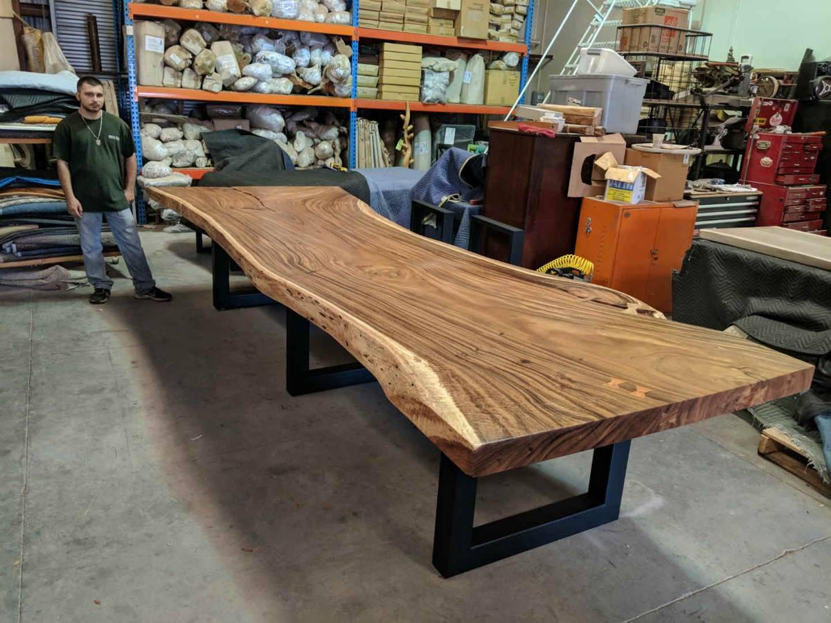 Live Edge Wood Slabs Sustainable Furniture Decor Direct Wholesale Warehouse