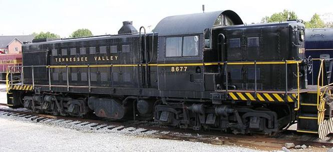 Former US Army ALCO RSD-1, now owned by the Tennessee Valley Railroad Museum.