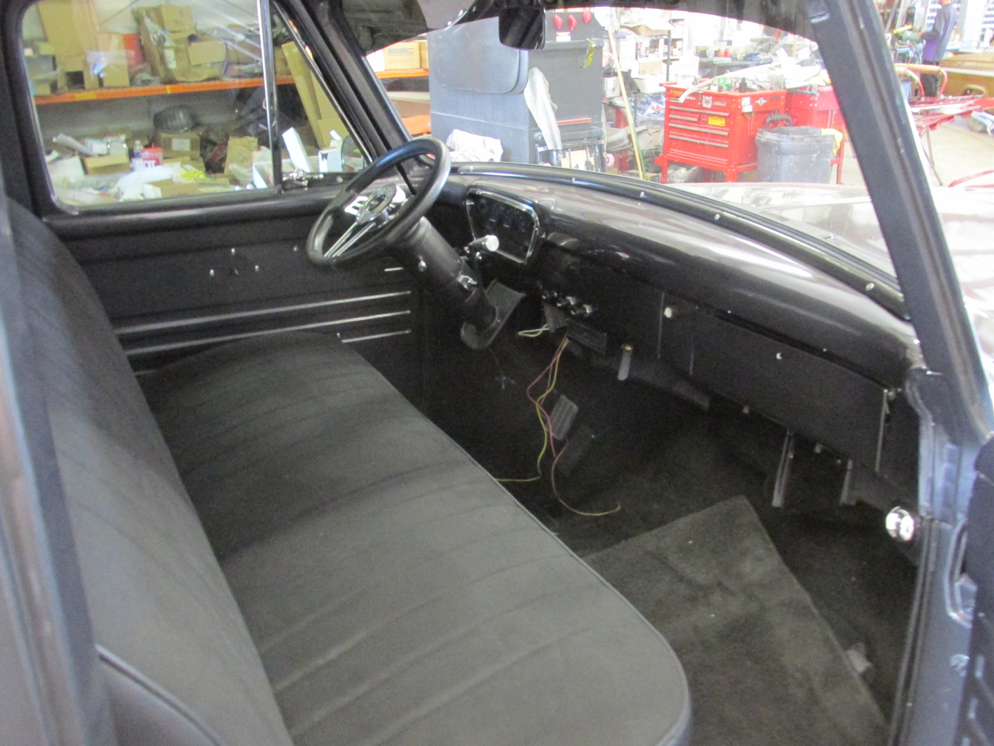 55 F100 1955 Ford Interior Seat This Is A Beautiful With 302 Motor And Aod Transmission Its Painted Charcoal Grey Black Chrome Accents