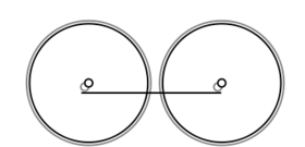 A diagram the 0-4-0, two wheels, coupled together with a coupling rod.
