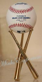 Triple bat baseball stand