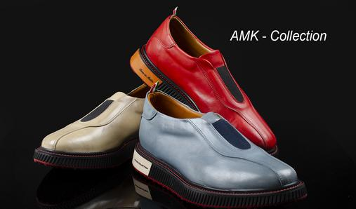 The AMK are very comfortable walking shoes to wear without laces. models include a three-inch sole height, with a combined rubber and leather sole design that cushions every step.