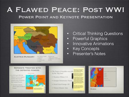 WWI: A Flawed Peace PowerPoint