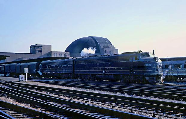 The National Limited, departing Cincinnati Union Terminal on April 11, 1963. Photo by Roger Puta.