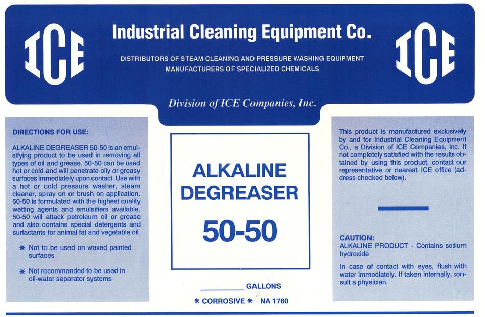 Alkaline degreaser for Alkaline concrete cleaner