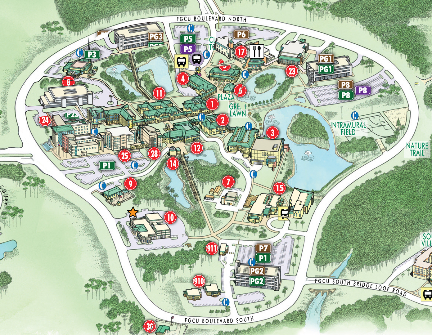 Mercyhurst University Campus Map.Notre Dame Campus Map Lackland Air Force Base Map